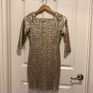 Gold Sequin Ruby Rox Dress